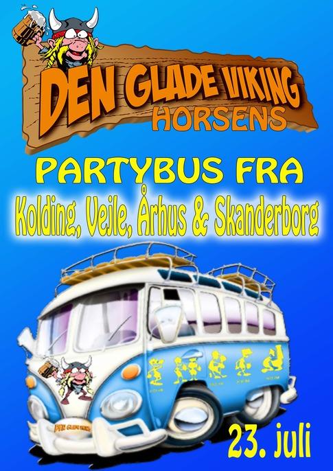 Partybus til den glade viking, horsens fra kolding/vejle