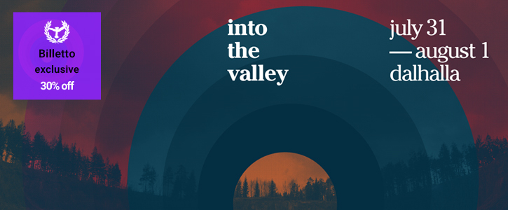 23-29 july Into The Valley 30% discount